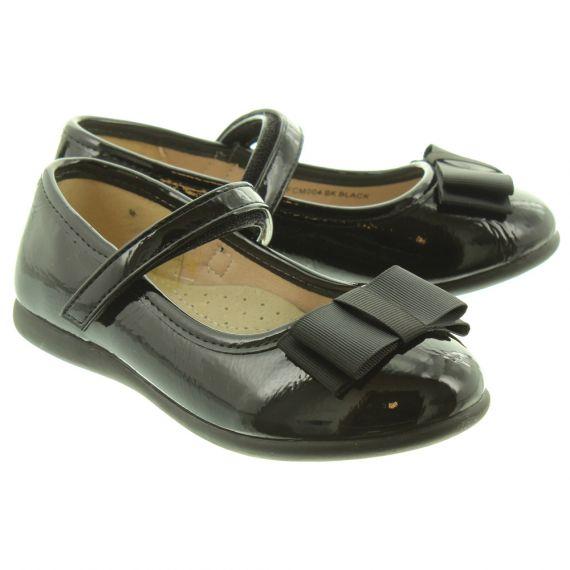LUNAR Ladies Pheobe Bow Bar Shoes In Black