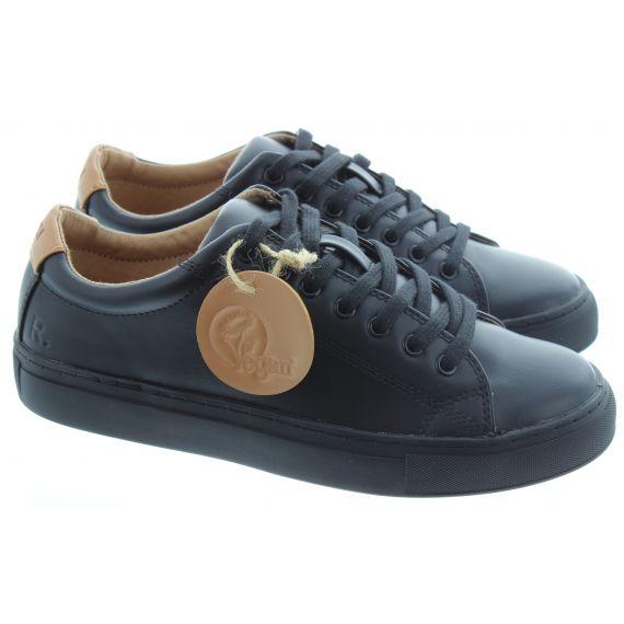 RATION.L Unisex R Kind Lace Shoe in Black