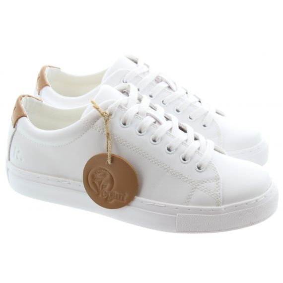 RATION.L Unisex R Kind Lace Shoe in White