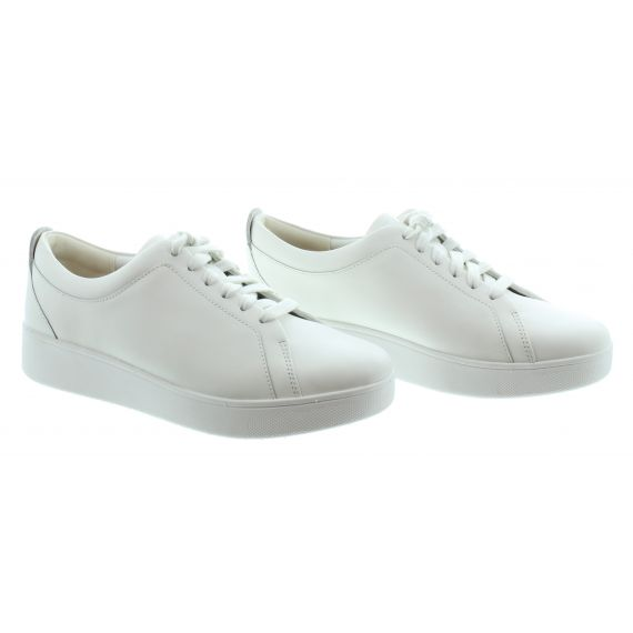 FITFLOP Ladies Rally Leather Sneakers In White