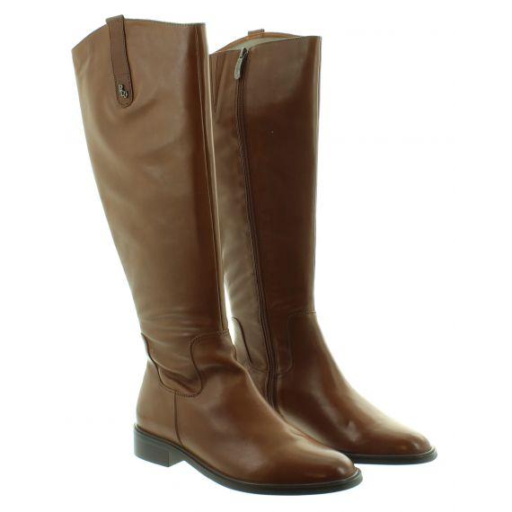 REGARDE LE CIEL Ladies Ride 01 Flat Knee Boot in Cognac