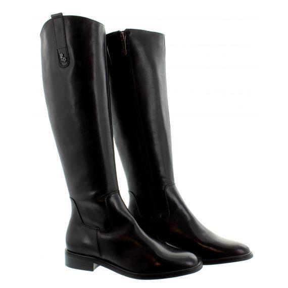 REGARDE LE CIEL Ladies Ride 01 Flat Knee Boots In Black