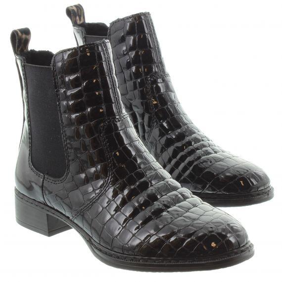 RIEKER Ladies Rieker 73494 Flat Chelsea Boot in Black