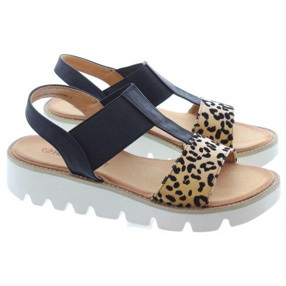 HEAVENLY FEET Ladies Ritz Flat Sandal in Leopard