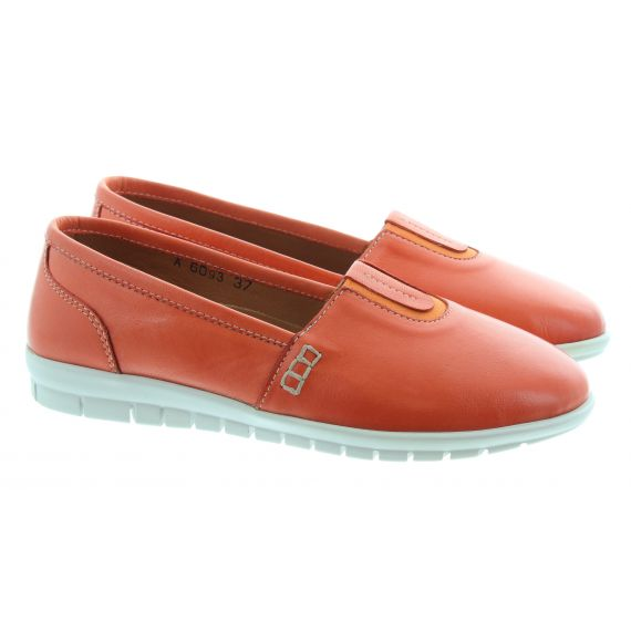 ADESSO Ladies Rose Flat Pumps In Coral