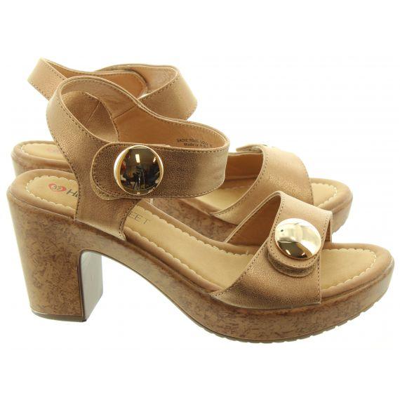 HEAVENLY FEET Ladies Sadie Vegan Heeled Sandals In Rose Gold
