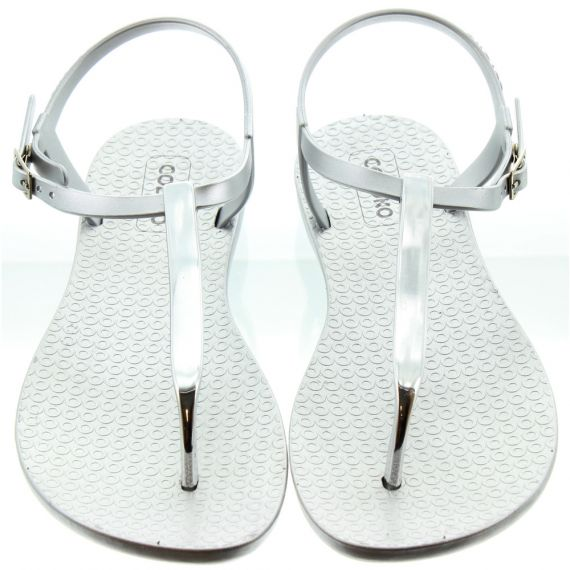 COLOKO Ladies Sakura Metallic Sandals In Silver