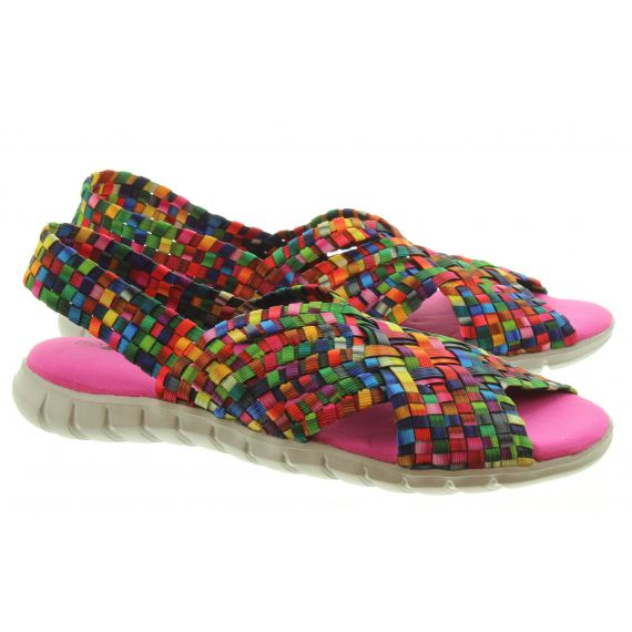 ADESSO Ladies Sally Sandals In Tutti Frutti