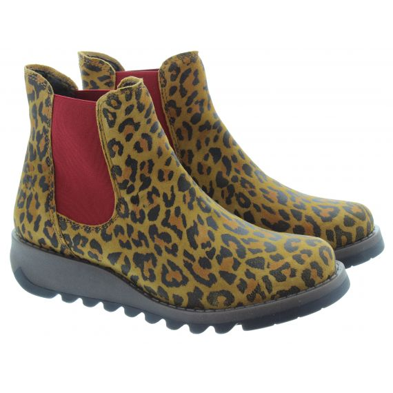 FLY Ladies Salv Chelsea Boots in Cheetah