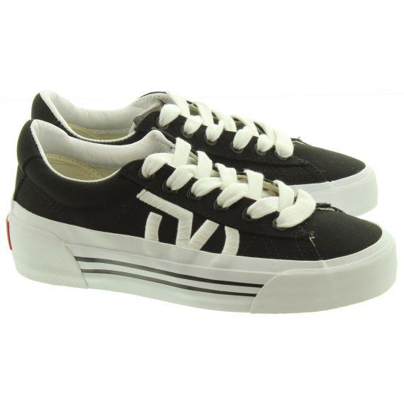 VANS Ladies Sid Ni Platform Shoes In Black And White