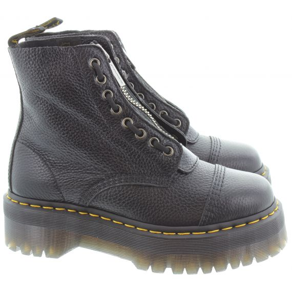 DR MARTENS Ladies Sinclair Platform Boots In Black Nappa
