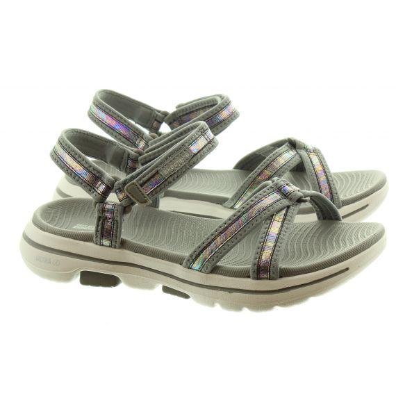SKECHERS Ladies 140095 Flat Sandals in Grey Multi