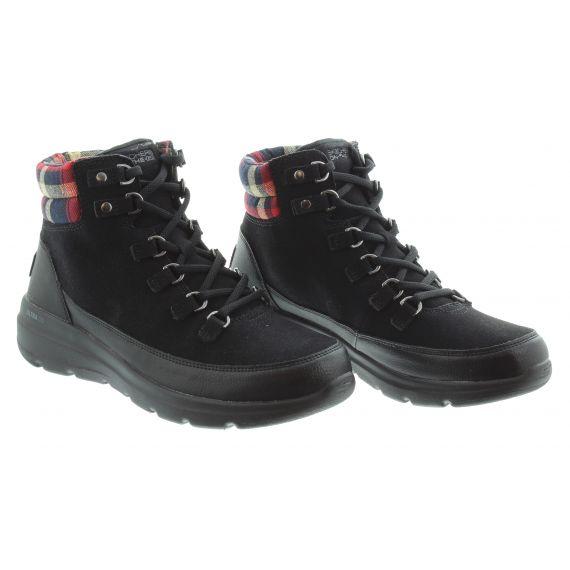 SKECHERS Ladies Skechers 144152 Lace Boot in Black