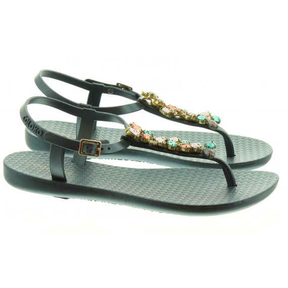 COLOKO Ladies Stargazer Toe Post Sandals In Teal