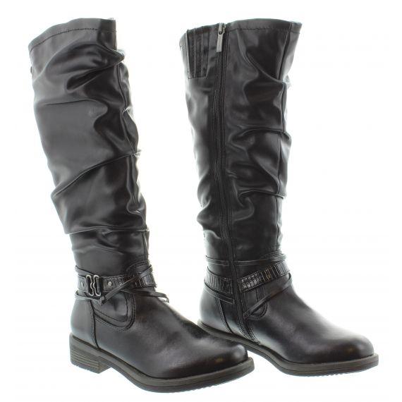 TAMARIS Ladies Tamaris 125548 Flat Knee in Black