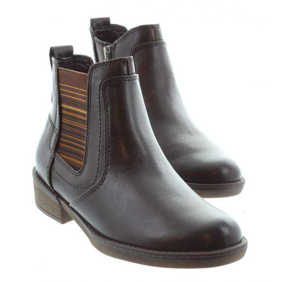 TAMARIS Ladies Tamaris 25012 Flat Ankle Boot in Mocca