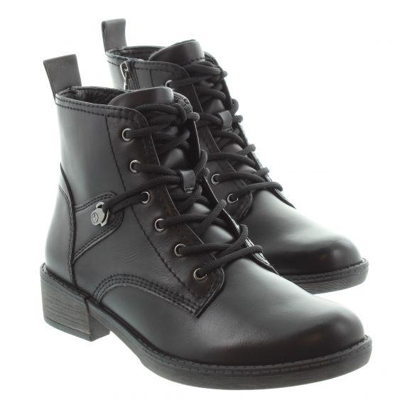 TAMARIS Ladies Tamaris 25116 Lace Ankle Boot in Black