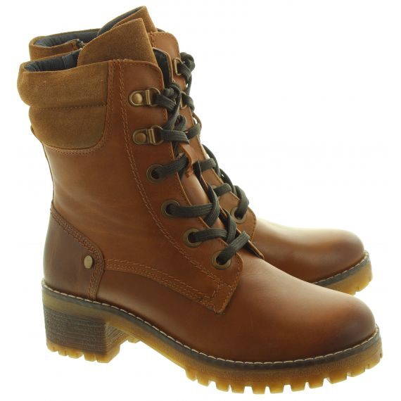 ADESSO Ladies Tara Military Boots In Tan