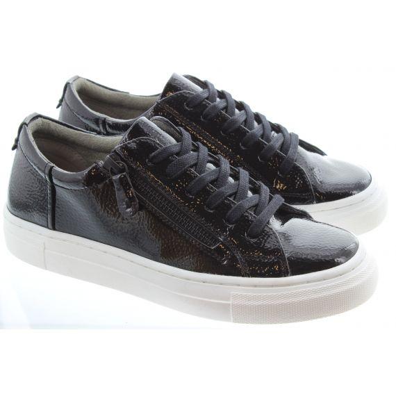 HEAVENLY FEET Ladies Tiffany Lace Shoe in Black Patent