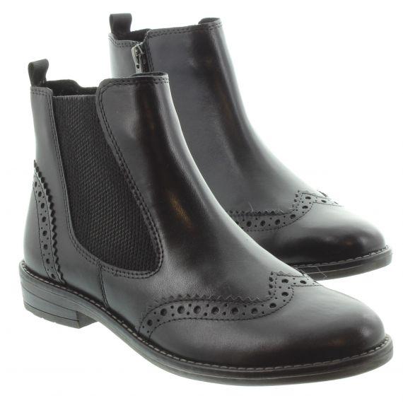MARCO_TOZZI Ladies Tozzi 25365 Brogue Chelsea Boot in Black