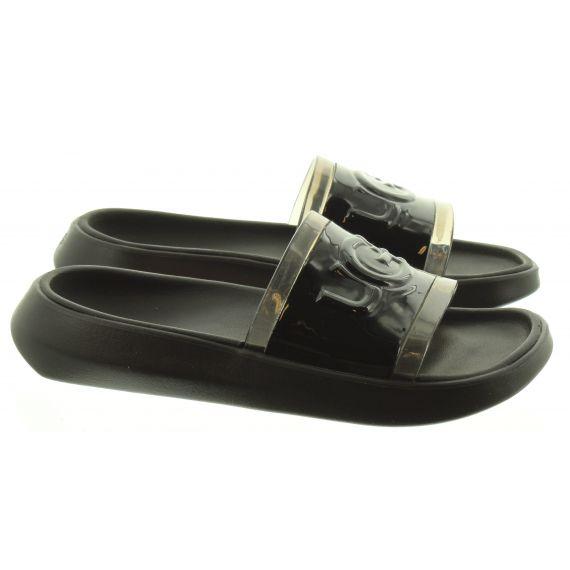 UGG Ladies Hilama Sliders in Black