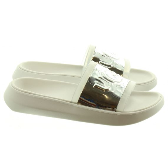 UGG Ladies Hilama Sliders in White