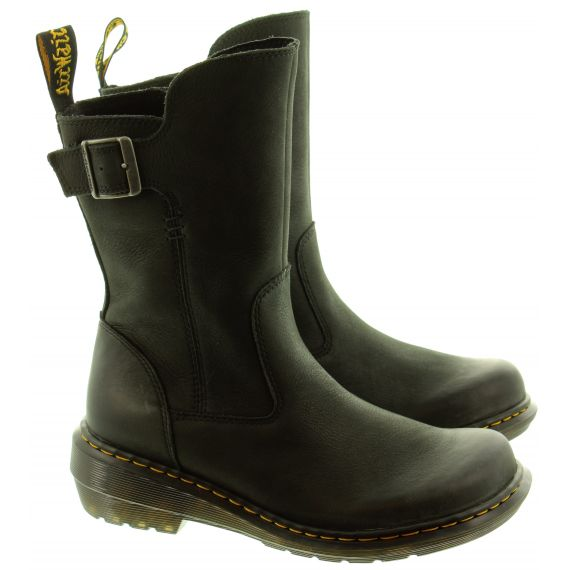 DR MARTENS Ladies Vaux Mid Calf Boots In Black