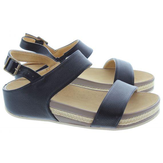 HEAVENLY FEET Ladies Vicky Flat Sandals In Black