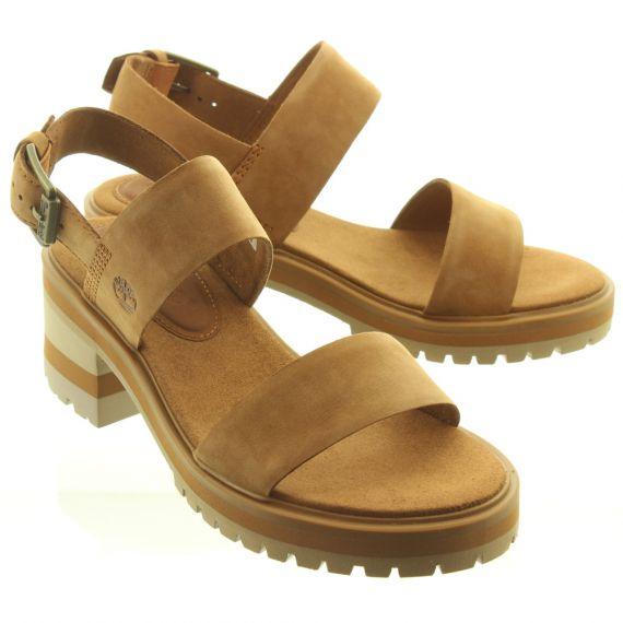 TIMBERLAND Ladies Violet Marsh Sandals In Rustic Tan