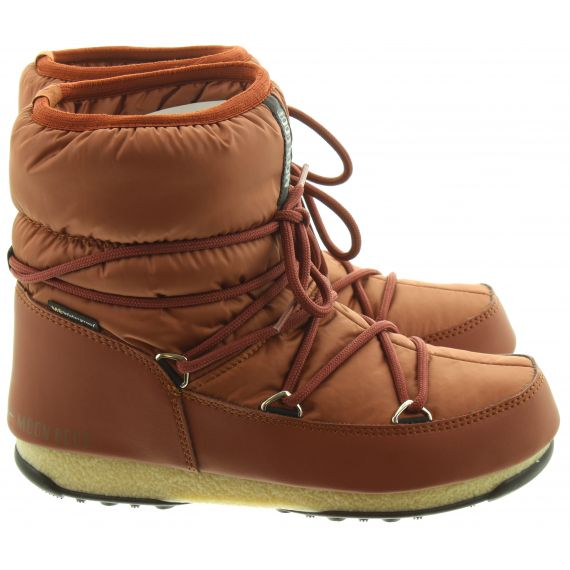 Ladies W.E Low Nylon Wateproof Boots In Rust