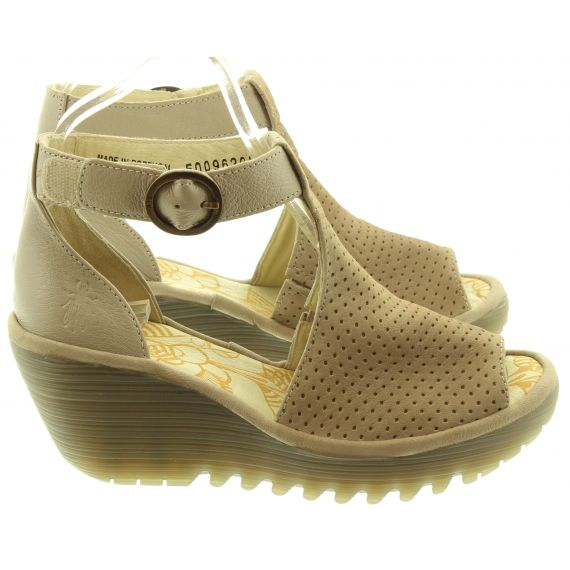 FLY Ladies Yall Wedge Sandals In Grey