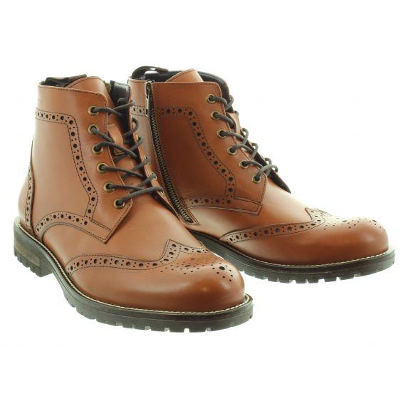 ADESSO Mens Leo Lace Boots In Tan