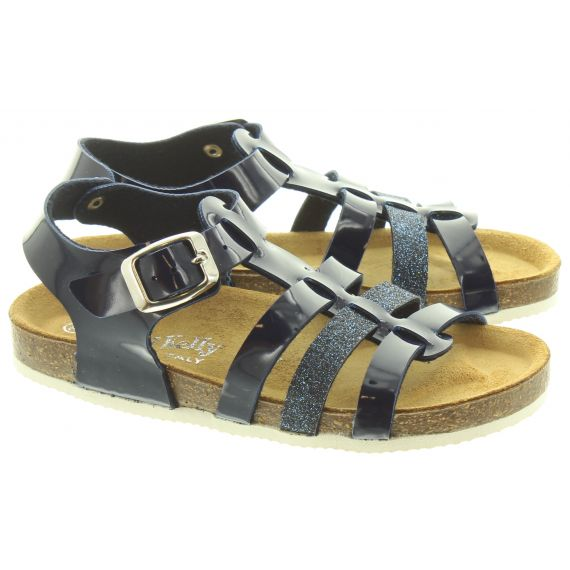 LELLI KELLY Kids Lk4587 Gladiator Sandals In Navy