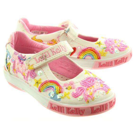 LELLI KELLY Kids LK9050 Unicorn Bar Shoes In White