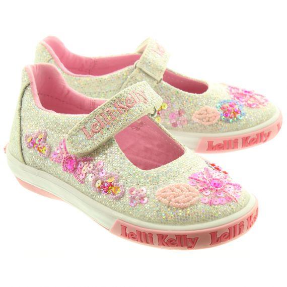 LELLI KELLY Kids LK9080 Daisy Glitter Shoes In Silver