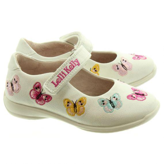 LELLI KELLY LK9752 Princess Butterfly Bar Shoes In White