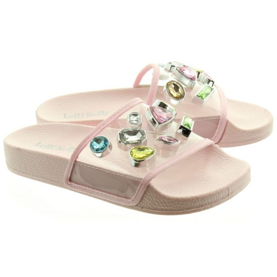 LELLI KELLY LK9918 Serena Jewel Sliders In Clear