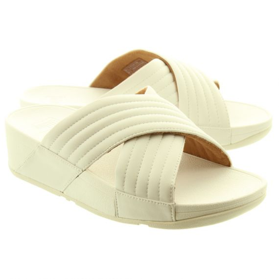 FITFLOP Ladies Lulu Padded Mules In White
