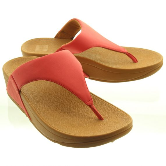 FITFLOP Ladies Lulu Toe Thong Sandals in Red
