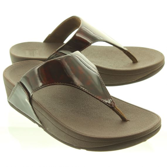 FITFLOP Ladies Lulu Toe Thong Sandals in Tortoise Shell