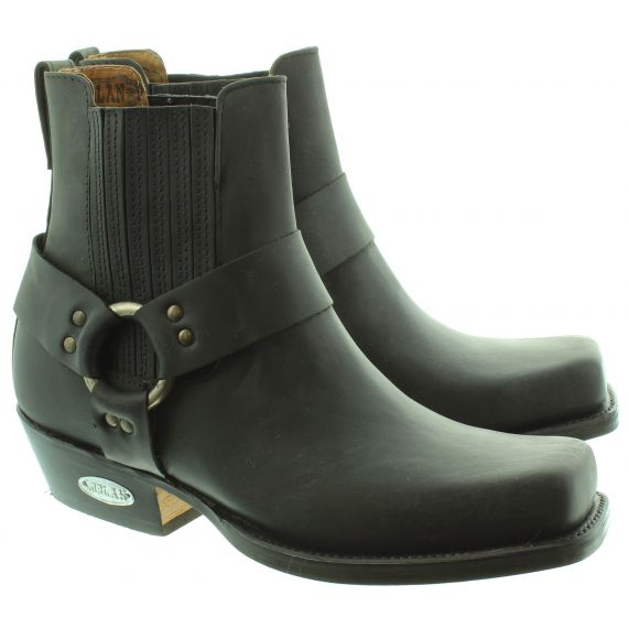 LOBLAN Mens 096 Ankle Boots In Black