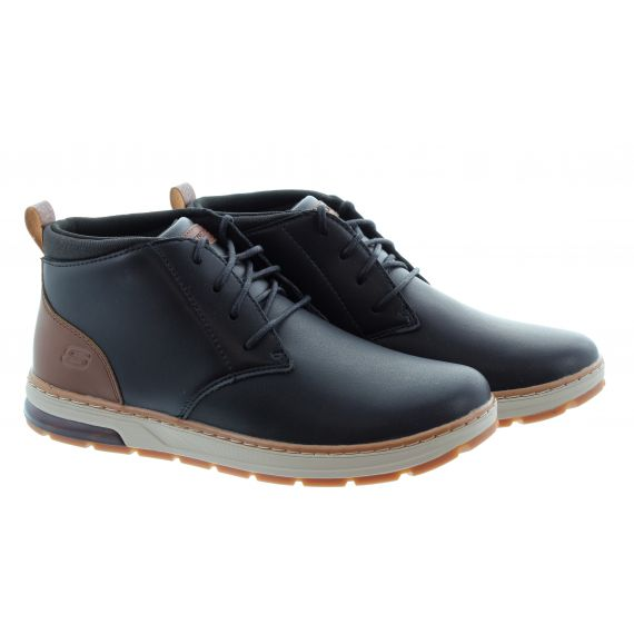 SKECHERS Mens 210141 Lace Boots In Black