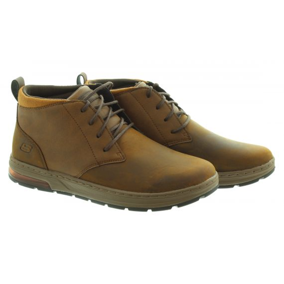 SKECHERS Mens 210141 Lace Boots In Brown