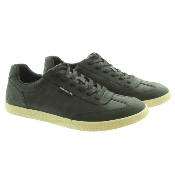 SKECHERS Mens 210207 Lace Trainers In Black
