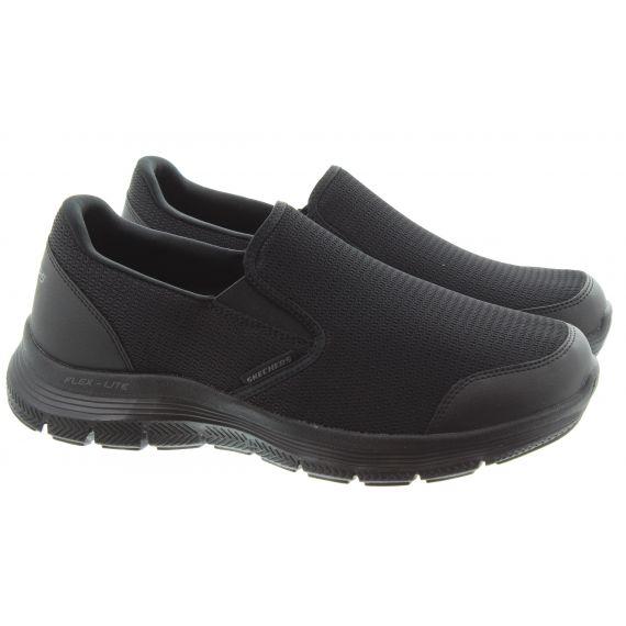 SKECHERS Mens 232230 Flex Advantage Slip On Shoes In All Black