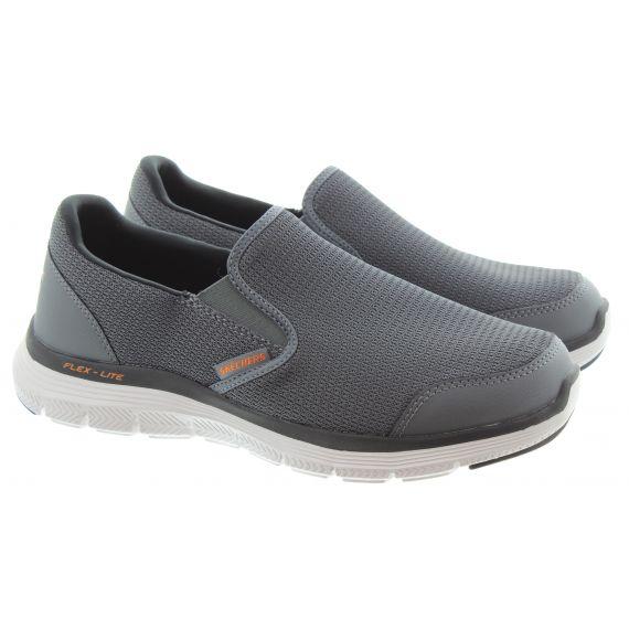SKECHERS Mens 232230 Flex Advantage Slip On Shoes In Charcoal Orange