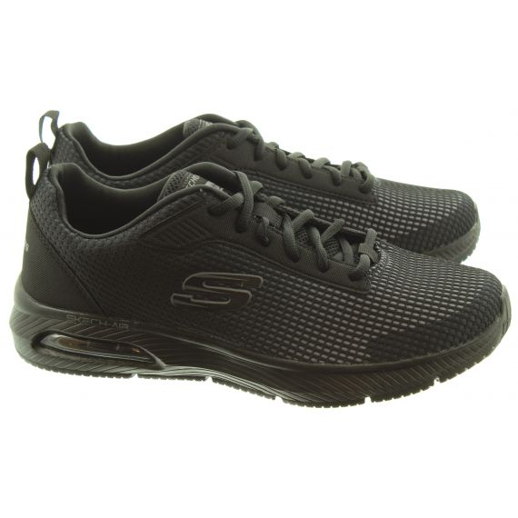 SKECHERS Mens 52558 Lace Trainers In All Black