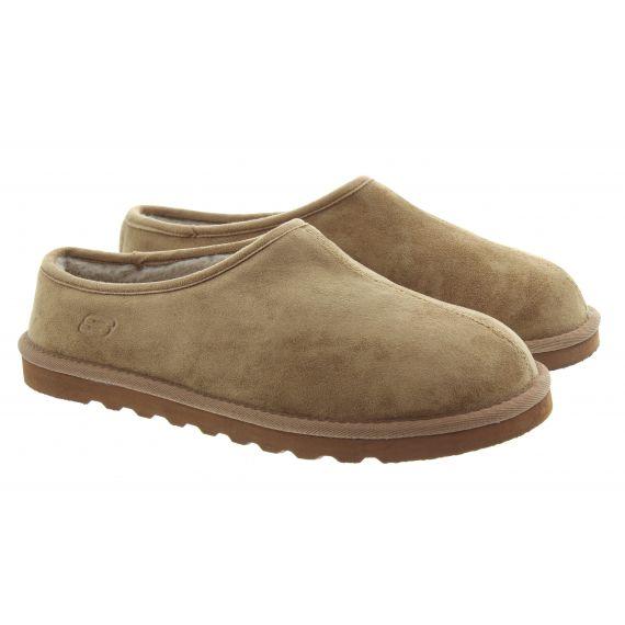 SKECHERS Mens 66095 Slippers In Tan