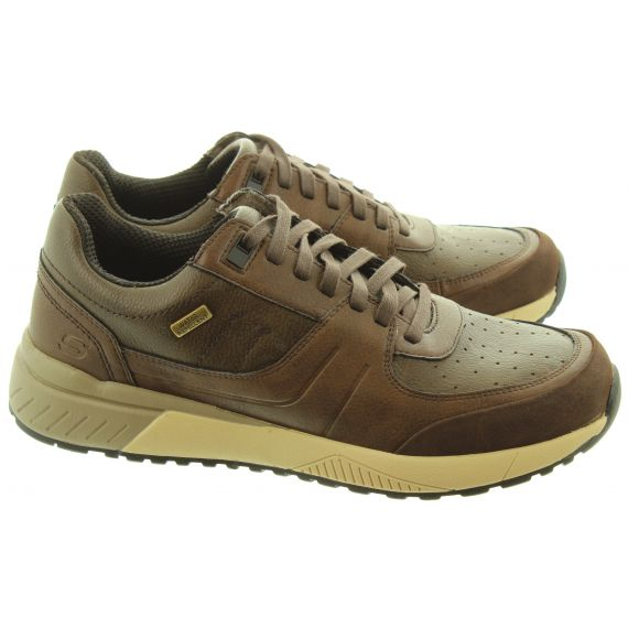 SKECHERS Mens 66398 Lace Trainers In Brown