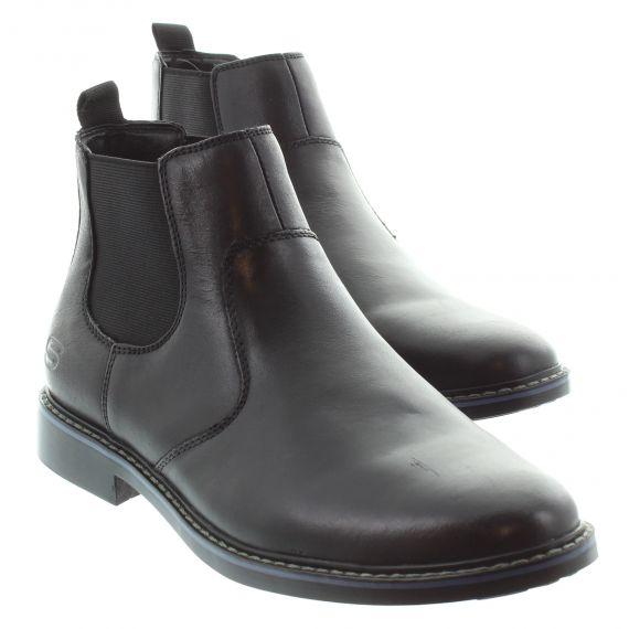 SKECHERS Mens 66406 Chelsea Boot in Black